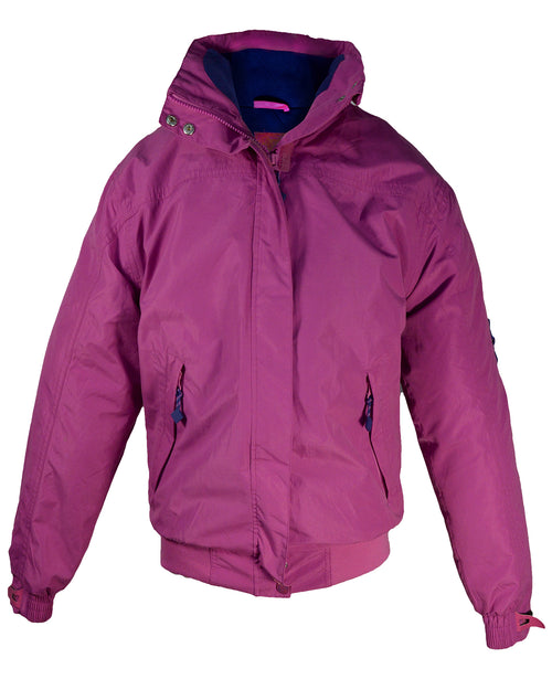 Regents View Womens Fleece Lined Bomber Jacket - Pink