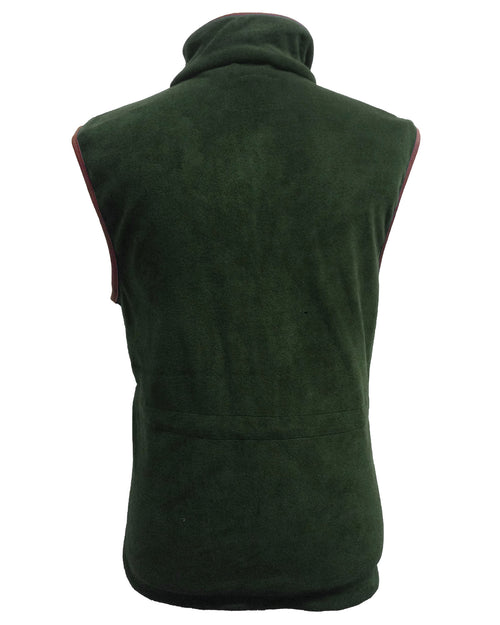 Regents View Mens Fleece Bodywarmer - Forest Green