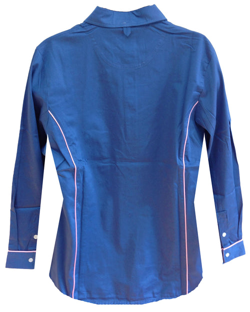 Regents View Women Lightweight Long Sleeve Summer Shirt - French Blue