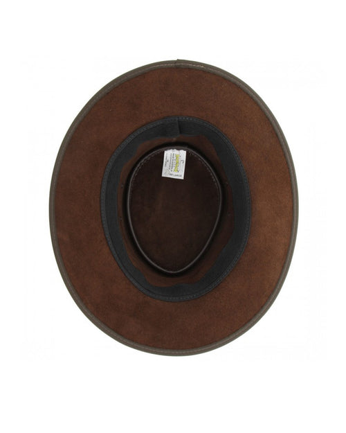 Barmah Crushable Bronco Leather Hat - Bronco Brown