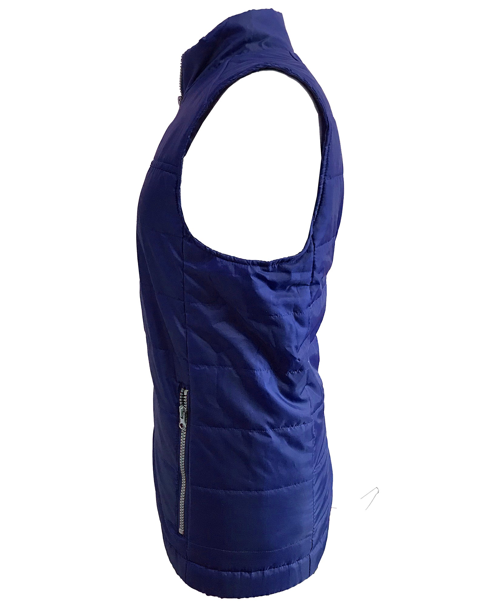 Mens Quilted Multi-Pocket Zipped Bodywarmer Gilet - Navy