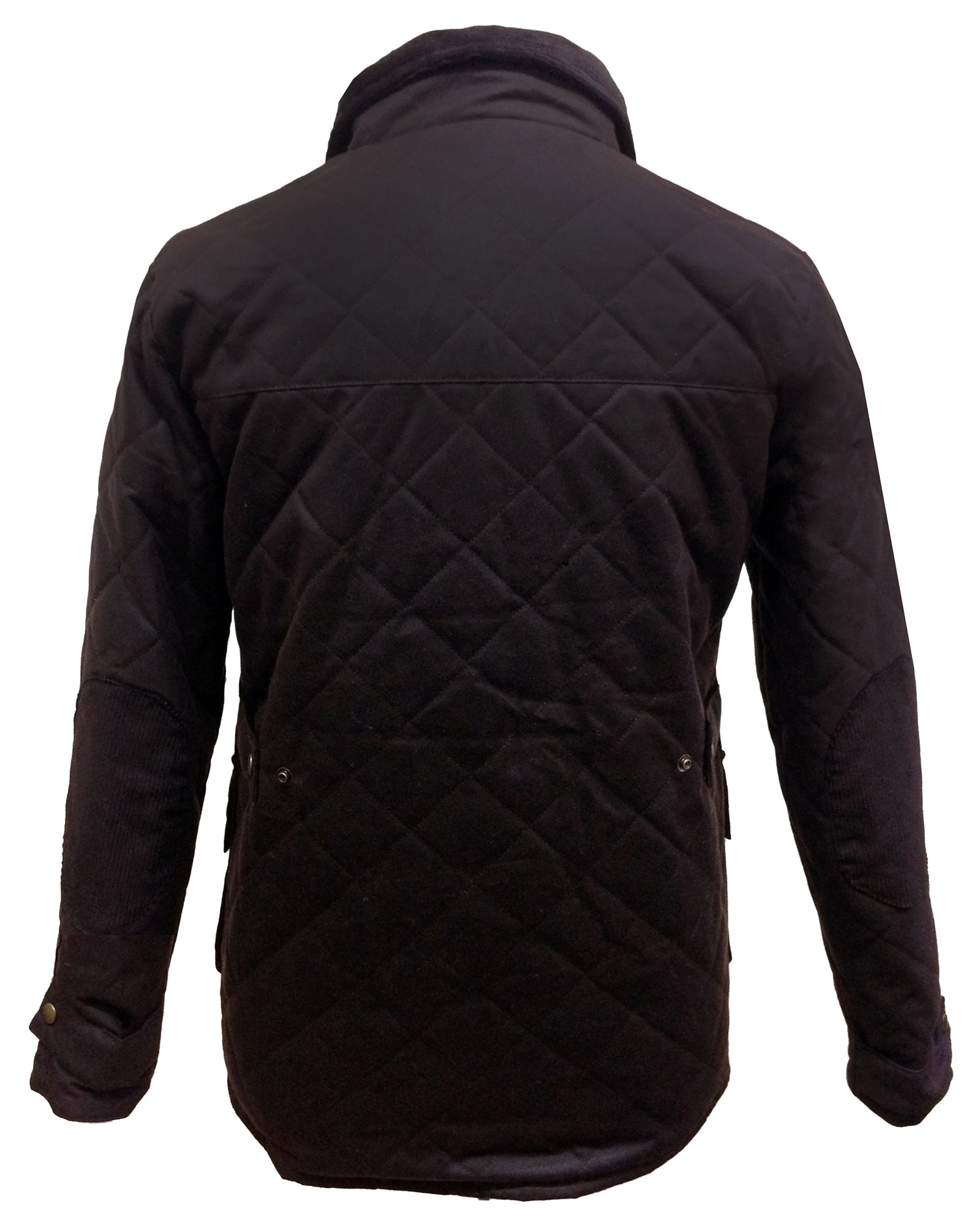 Regents View Men Premium Diamond Quilted Wax Cotton Jacket - Brown