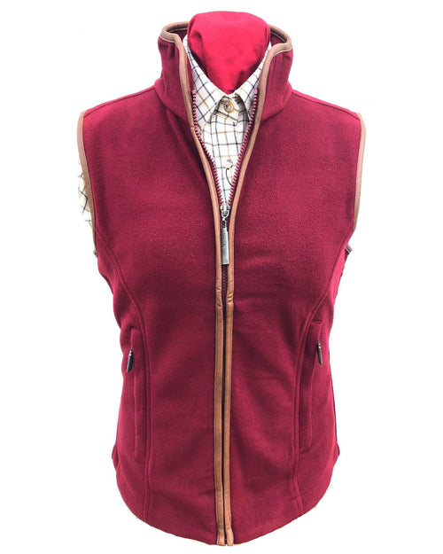 Regents View Women Fleece Bodywarmer - Burgundy