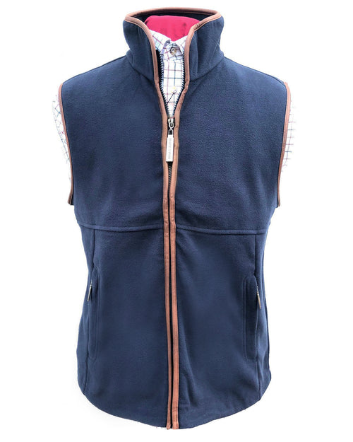 Regents View Mens Fleece Bodywarmer - Navy
