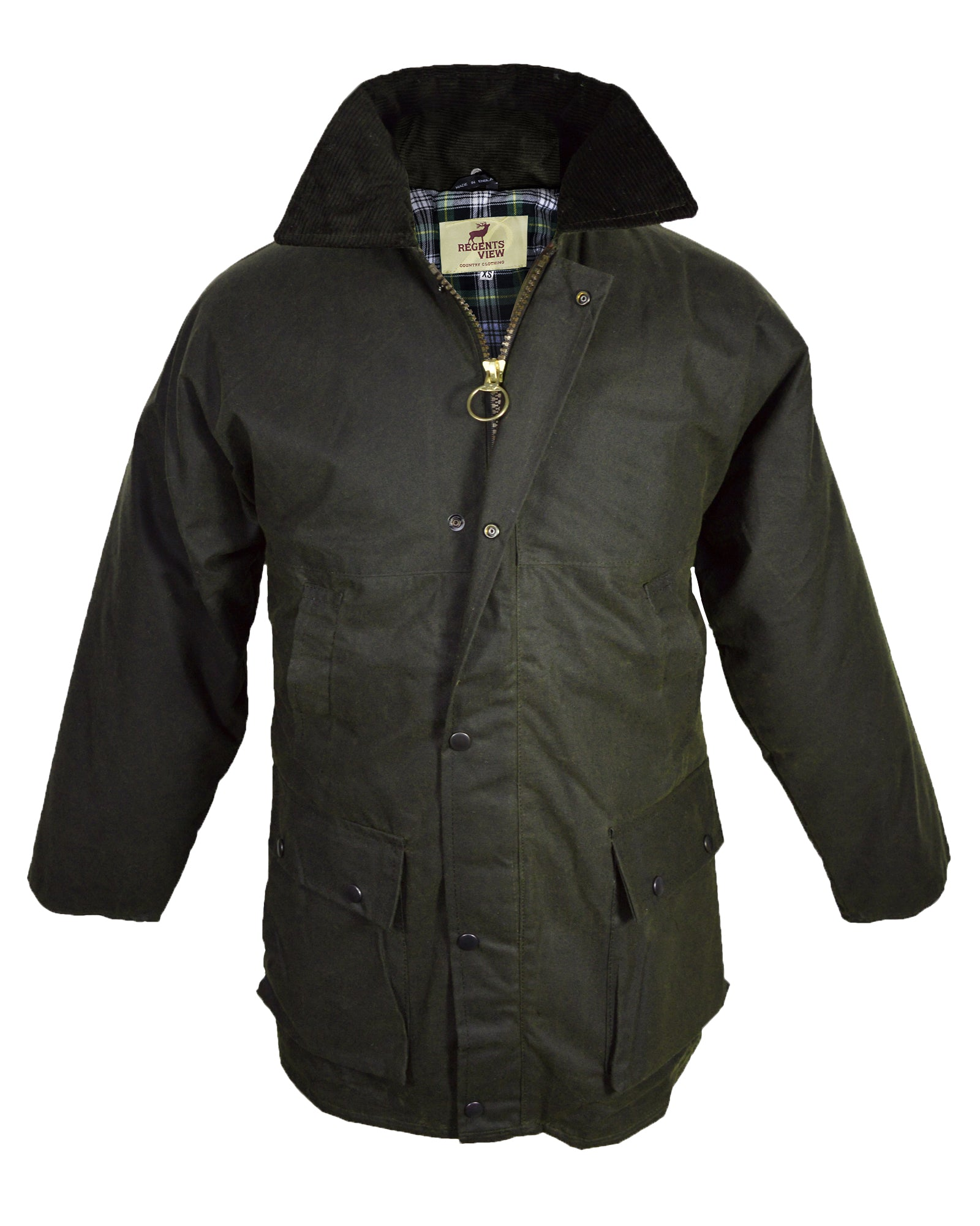 c5b6ede9bf Regents View Padded Waxed Cotton Jacket - Olive – Midlandsclothing
