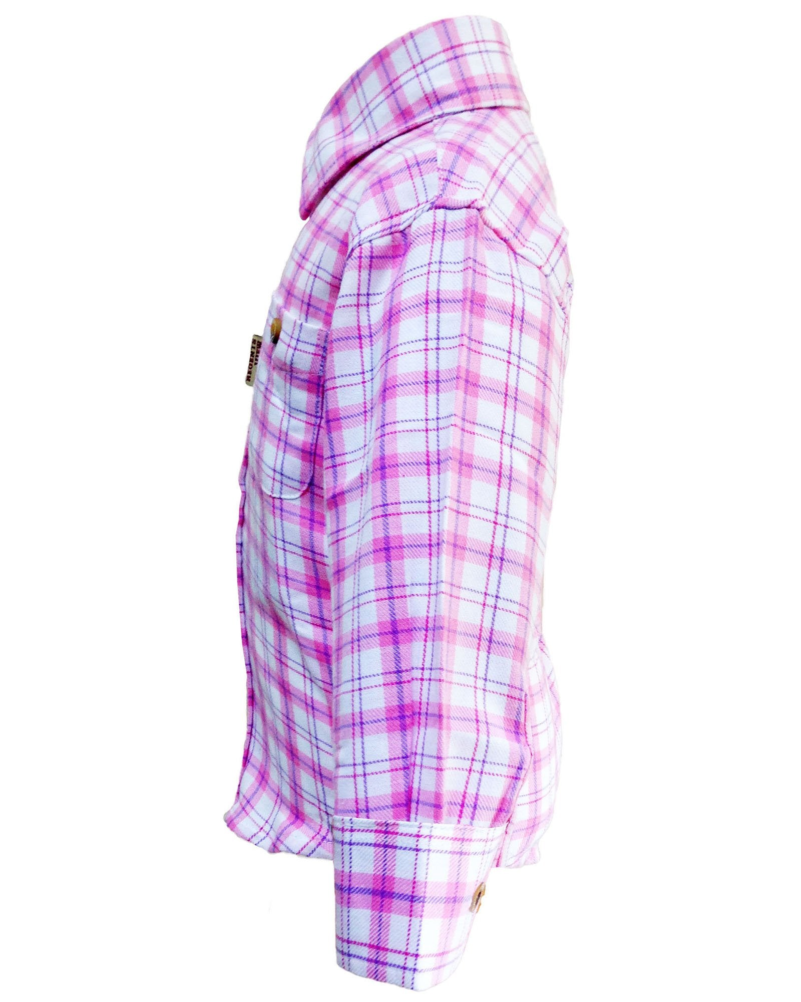 Regents View Childrens Tattersall Check Shirt - Pink SHP1