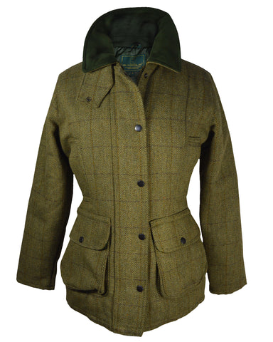 Regents View Women Stylish Tweed Hacking Style Jacket - Navy Trim