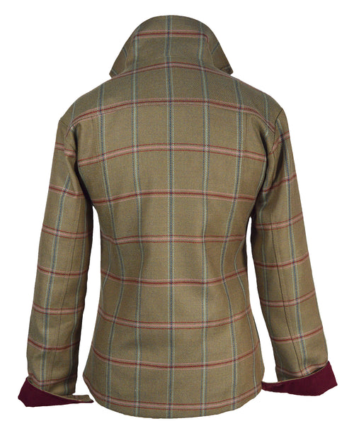 Regents View Stylish Women Tweed Jacket - Pink & Blue Stripe