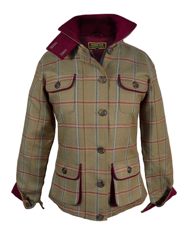 Regents View Stylish Women Tweed Jacket - Pink & Navy Stripe