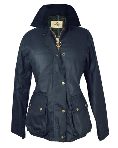 Regents View Womens Fleece Lined Bomber Jacket - Navy