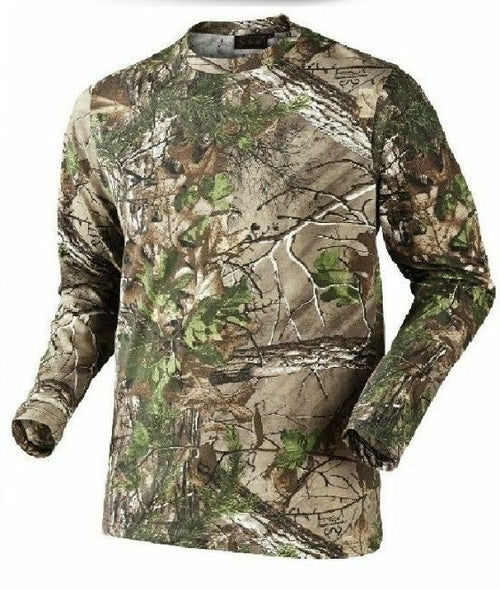 Men's Camouflage T-Shirt- Long Sleeve