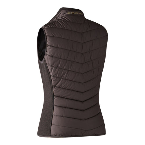 Lady Caroline Padded Waistcoat with knit - Dark Prune