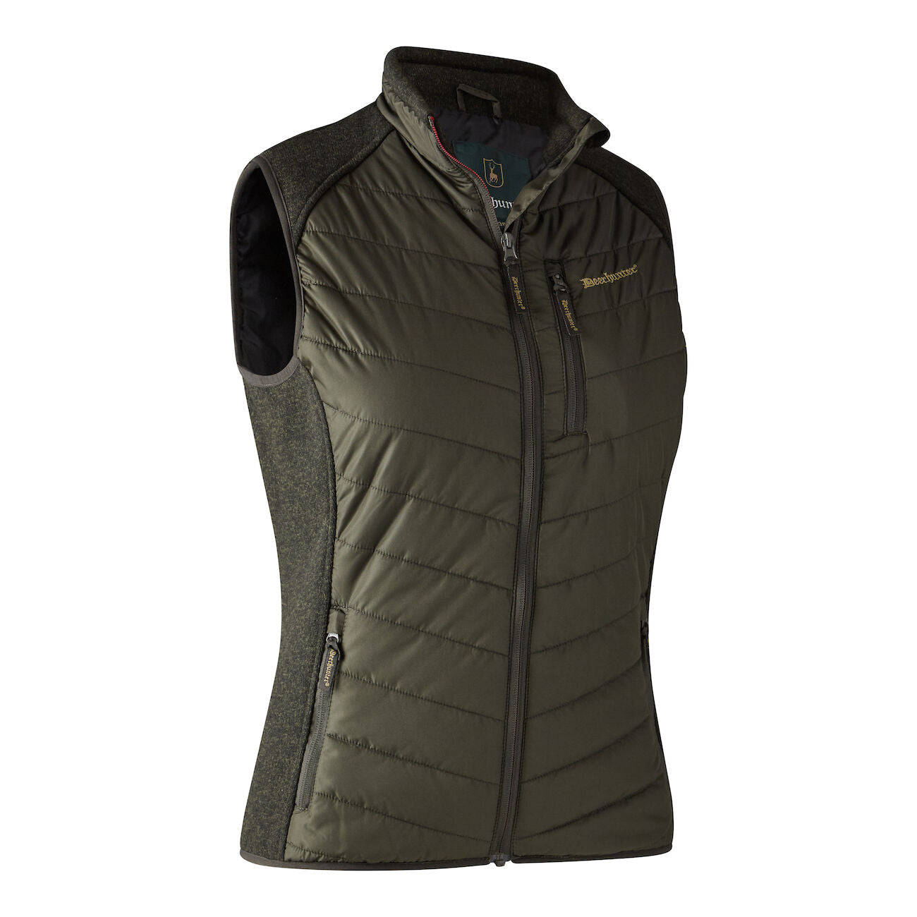 Lady Caroline Padded Waistcoat with knit - Timber