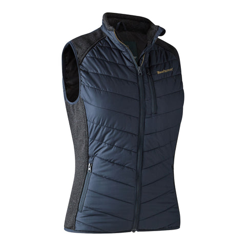 Lady Caroline Padded Jacket with knit - Dark Blue
