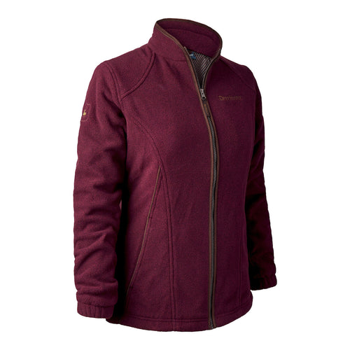 Deerhunter Lady Josephine Fleece Jacket ( with membrane) - Burgundy