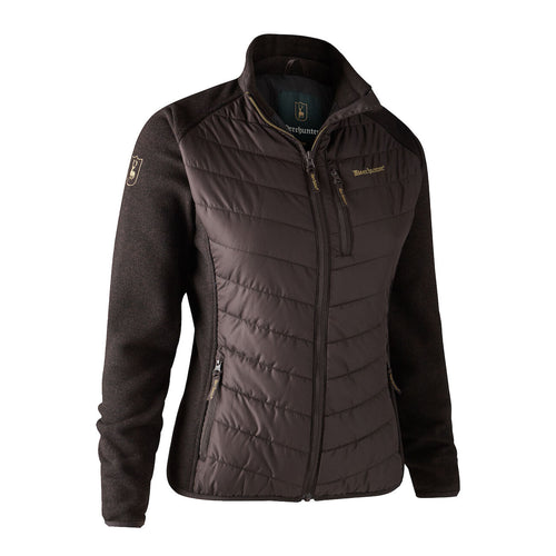 Lady Caroline Padded Jacket with knit - Dark Prune
