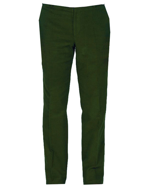 Regents View Mens Moleskin 100% Cotton Trousers - Olive