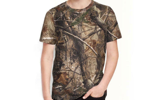 Children's Camouflage T-Shirt- Long & Short Sleeve