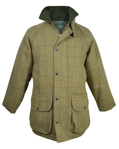 Cedar Mens Waxed Cotton Biker Jacket - Brown
