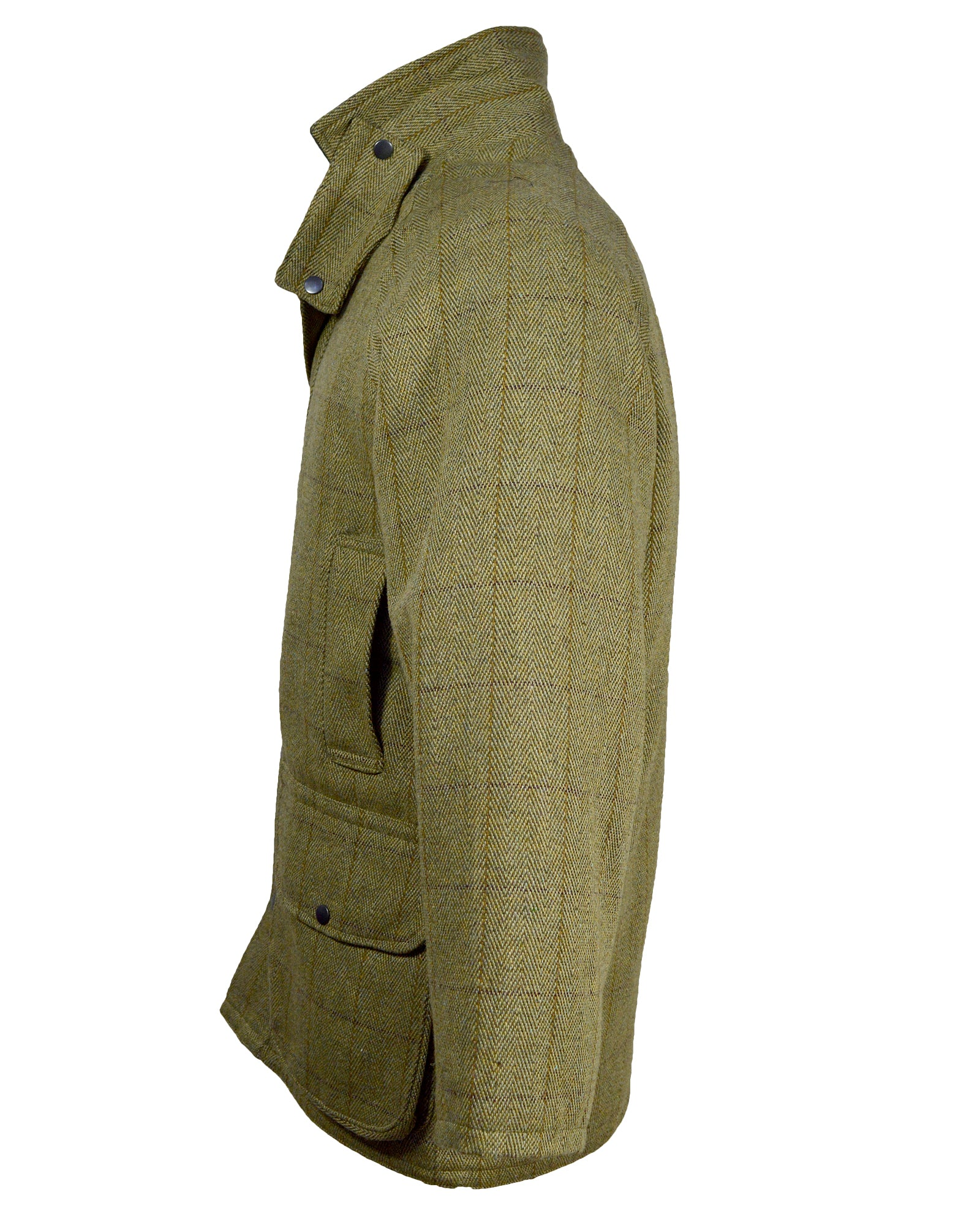 Saddle Mens Tweed Jacket / Coat - Light Tweed