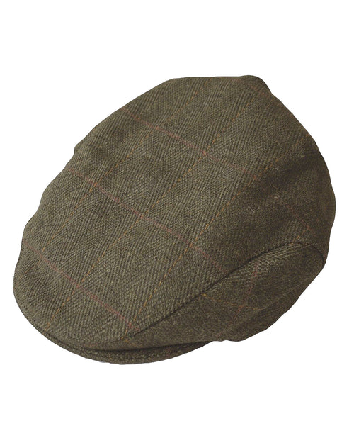 Regents View Mens & Womens Authentic Tweed Flat Cap - Olive