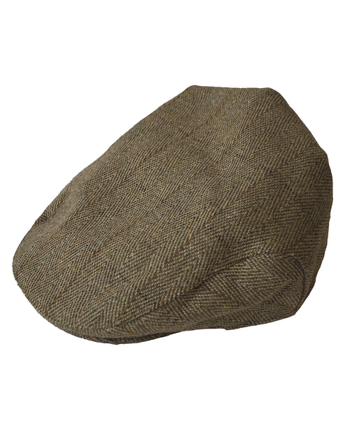 Regents View Childrens Authentic Tweed Flat Cap - Beige
