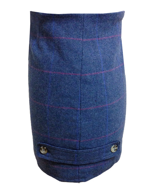 Regents View Women Premium Tweed Skirt - Blue