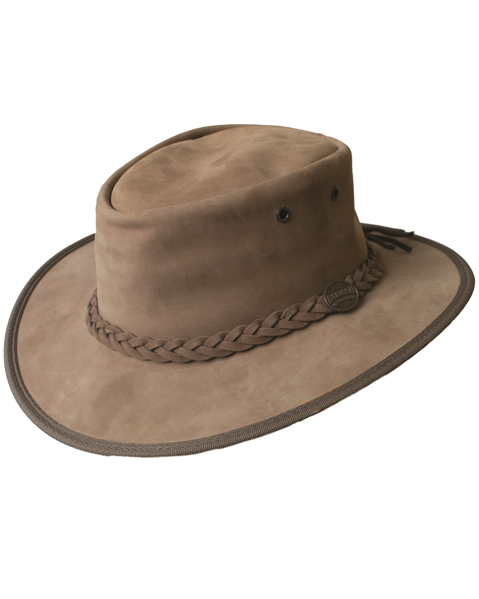 Barmah Crushable Bronco Leather Hat - Hickory