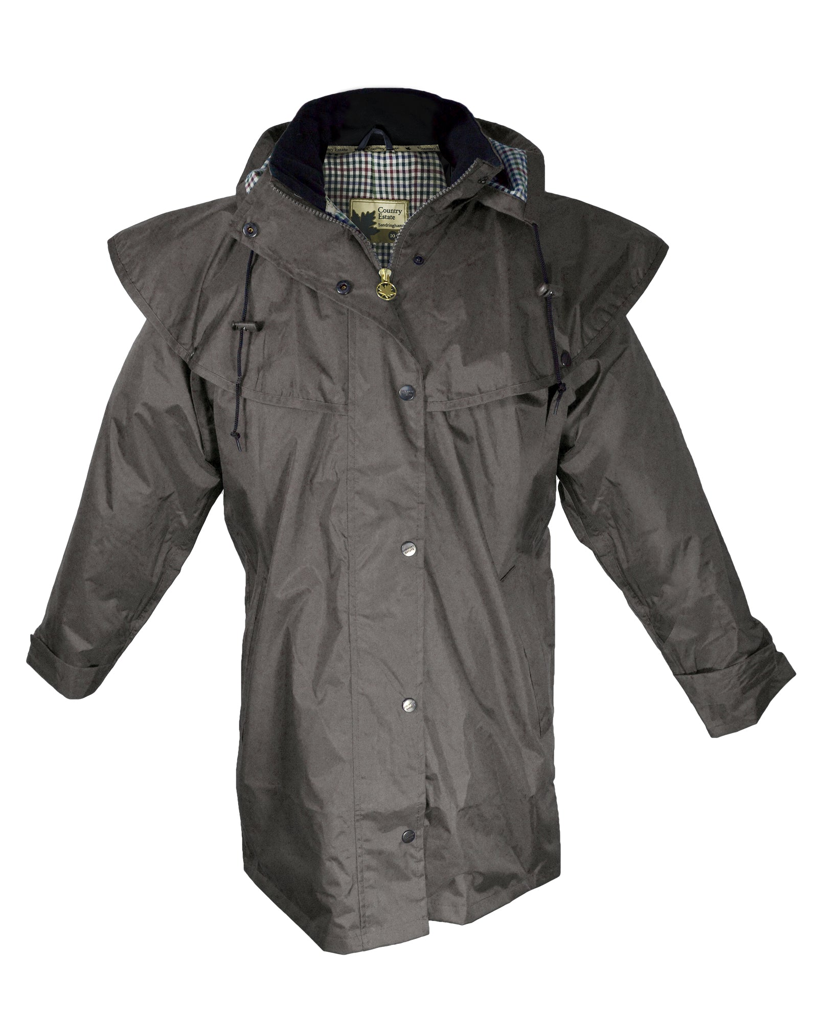 Windsor Womens Waterproof Short Coat - Brown