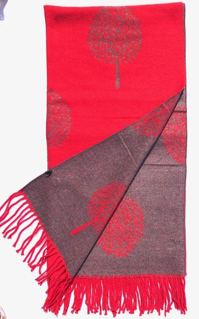 House Of Tweed  Large Scarves With Tassel Mulberry Tree -Red/Grey