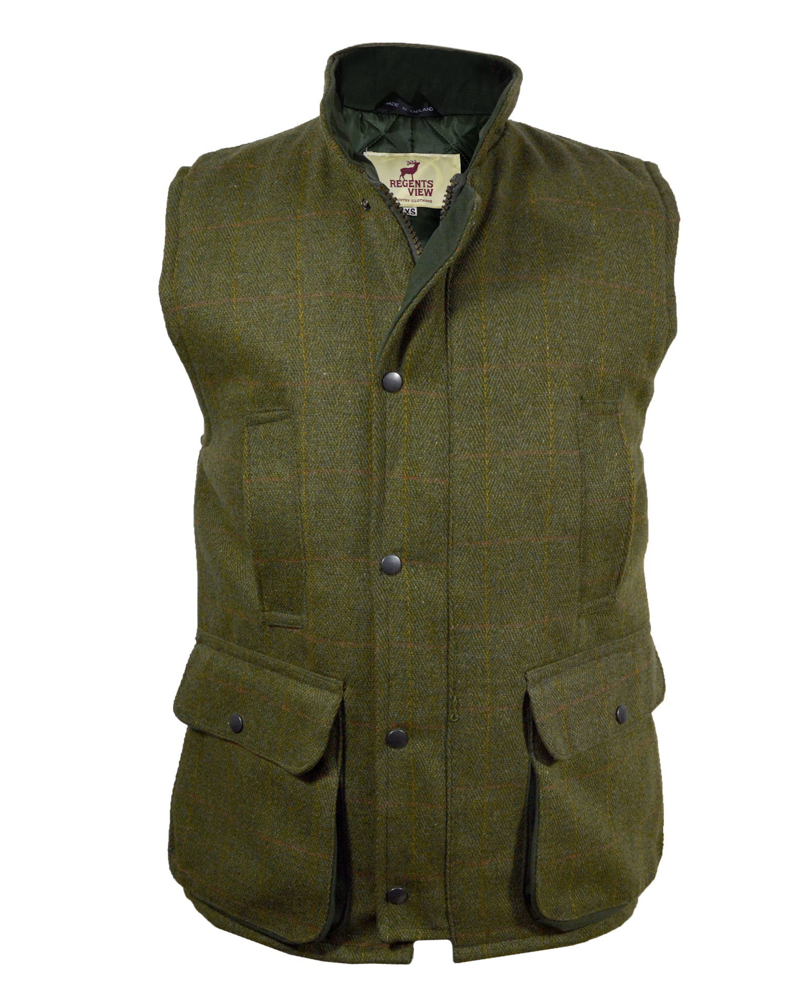 Regents View Mens Tweed Bodywarmer - Dark Tweed