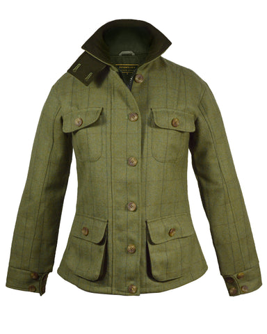 Regents View Waxed Cotton Stockman / Drover Long Coat - Olive