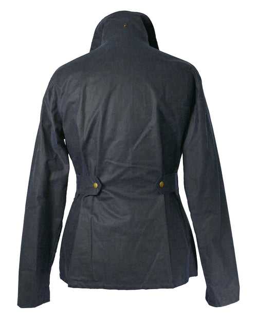 Regents View Womens Premium Fitted 100% Waxed Cotton Jacket - Navy