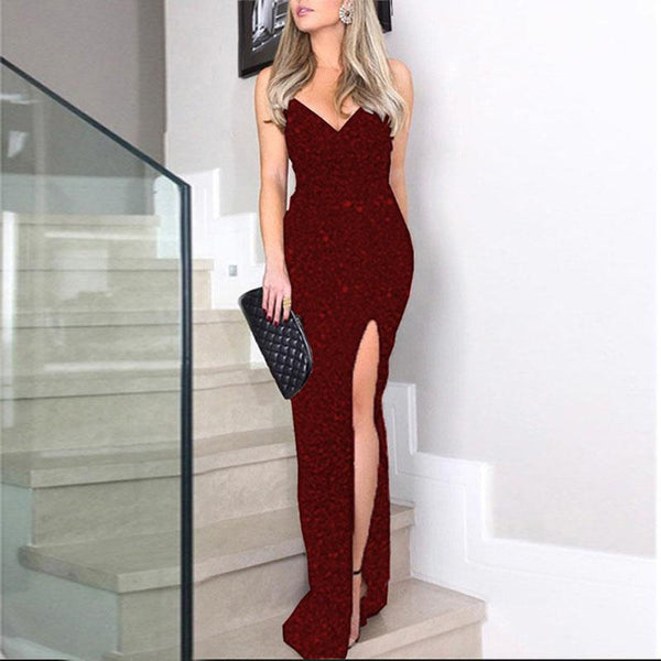Sparkle Maxi Slits Dress