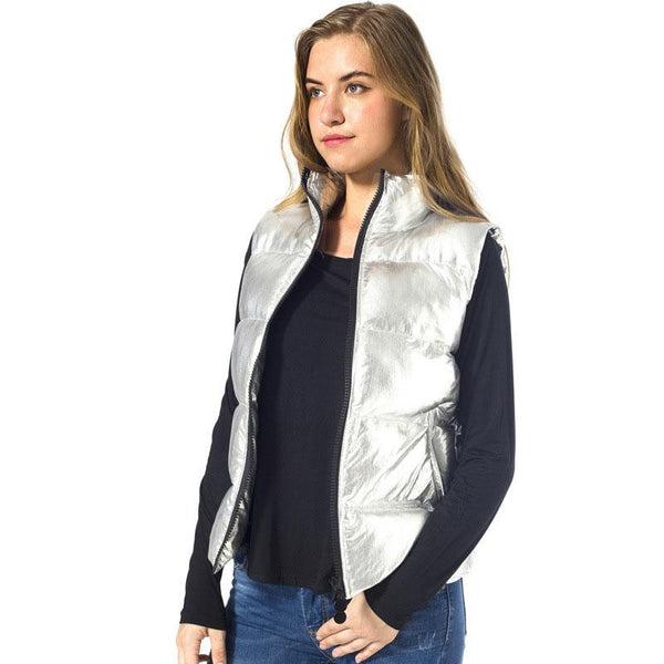 Silver Padded Gilet Jacket