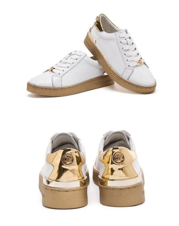 Classic Lace Up Flat White Sneakers