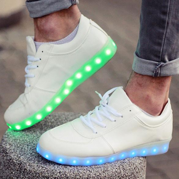 Charming Unisex LED Light Luminous Lace Up Sportswear Sneakers - MeetYoursFashion - 1