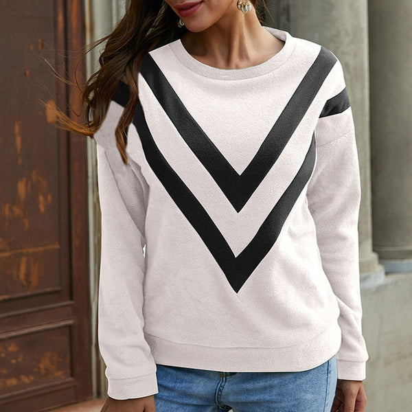 Simple Geometric Print Crewneck Sweatshirt