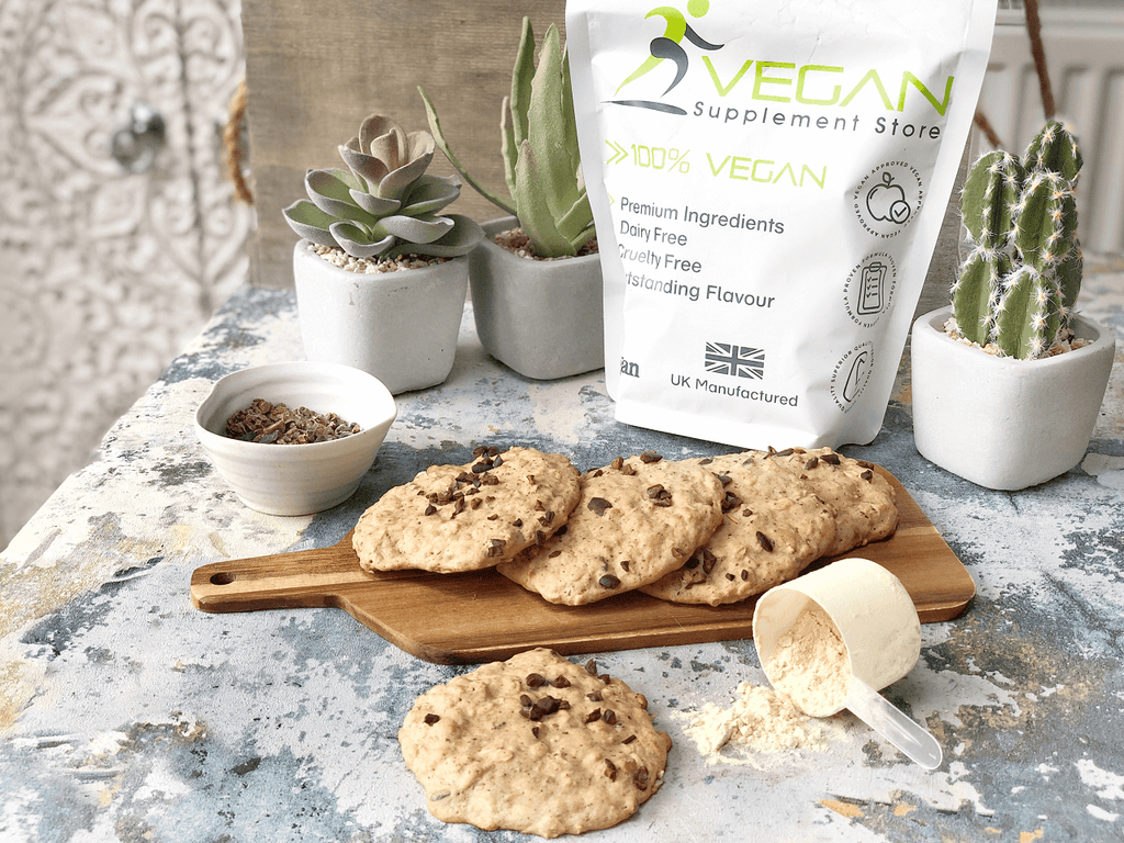 Plant-based high protein vegan chocolate chip cookie recipe