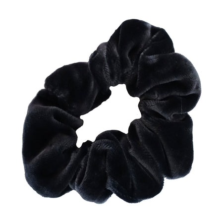 White and Black Striped Scrunchie