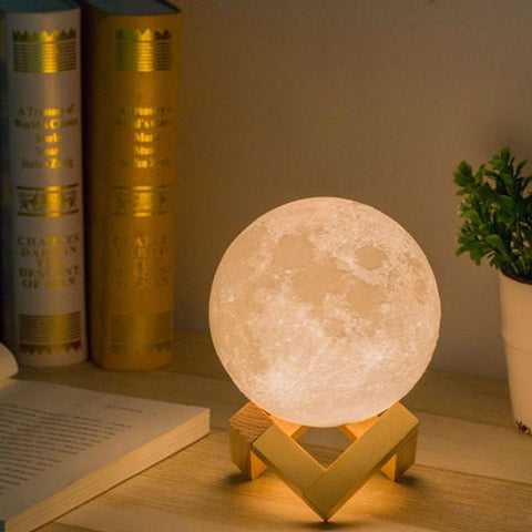 Luxury grimoire moon lamp