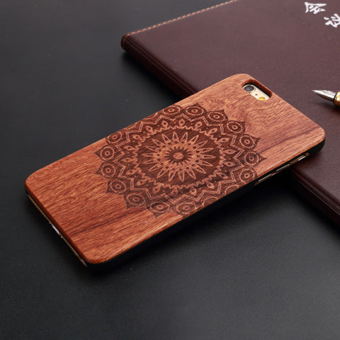 Luxury Handcrafted Wooden Ziricote Phone Cases (different patterns available)