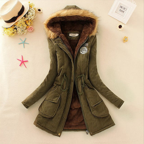 West Explorer's Women's Autumn Fur Collar Parka