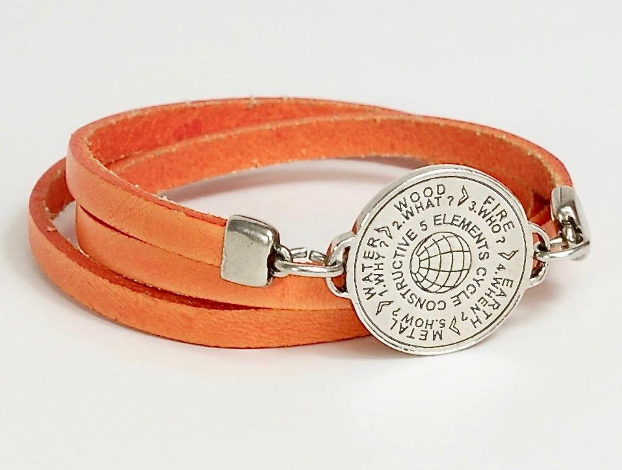 5 Elements Jewelry Bracelet and Pendant (two in one)orange color***