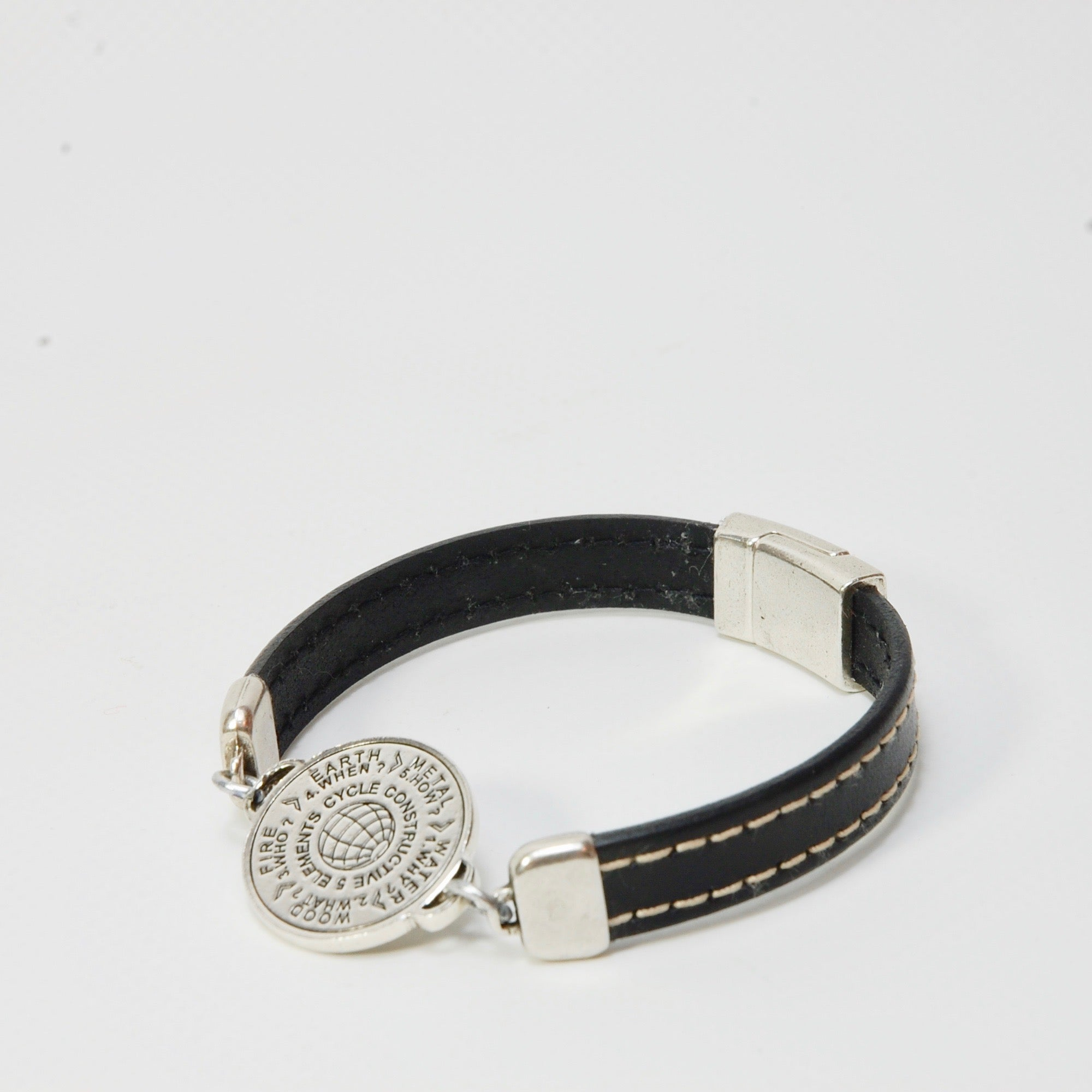 5 Elements Jewelry- Bracelet One Round - black color*