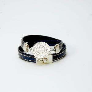 5 Elements Jewelry Bracelet or Necklace dark blue leather color