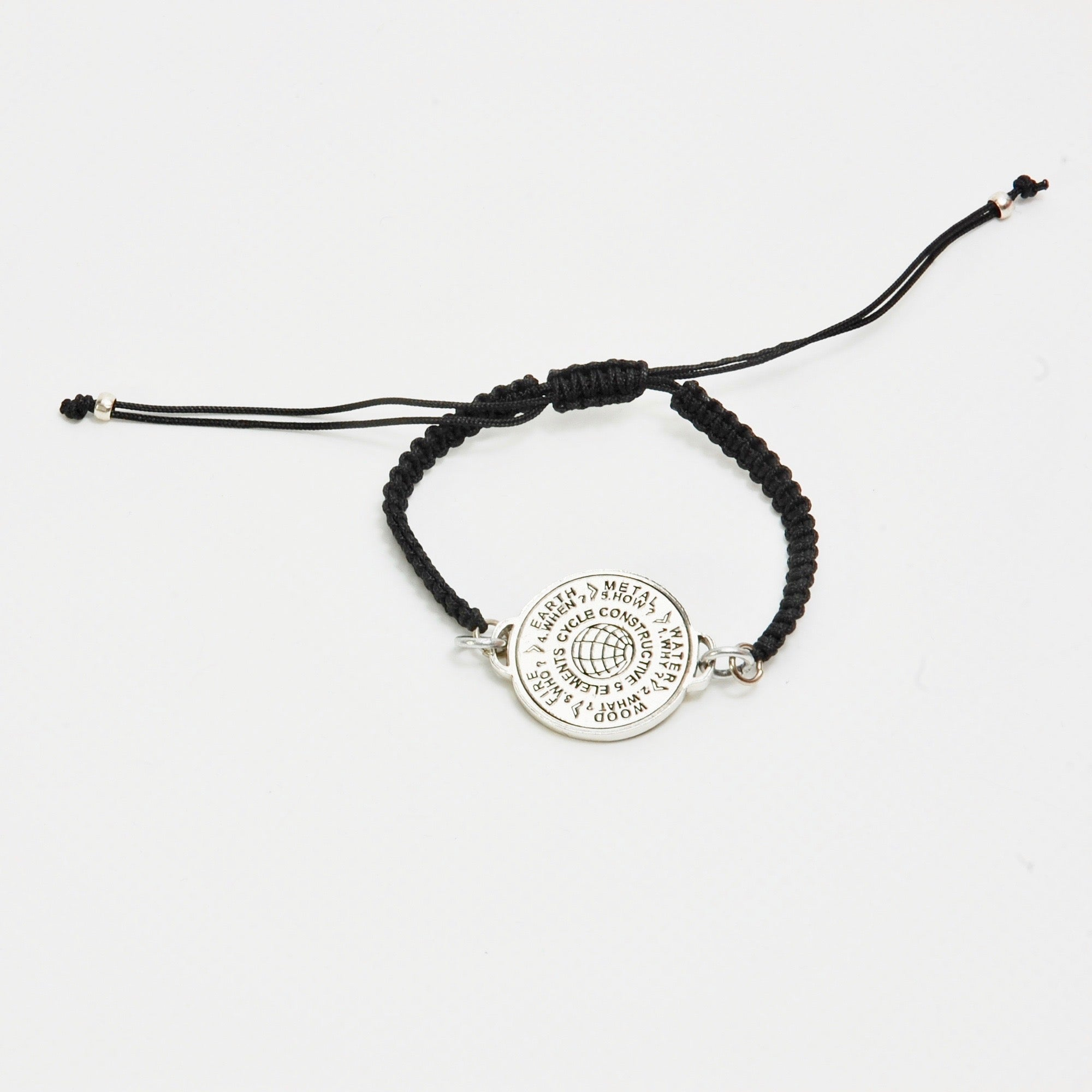5 Elements Jewelry Bracelet macrame black cord color