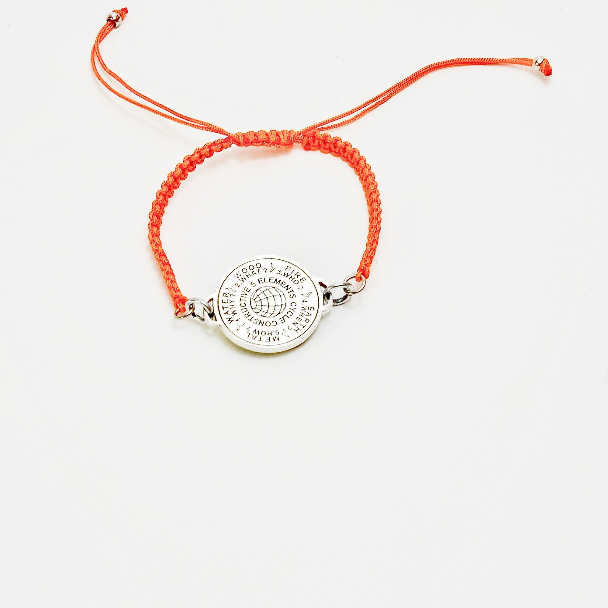 5 Elements Jewelry Bracelet Macrame orange color cordon