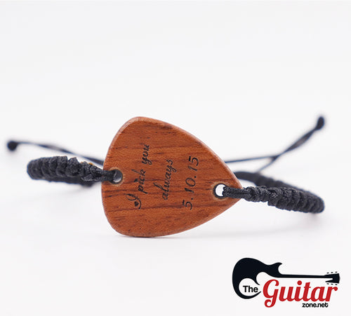 Beautiful Customized Wood Pick Bracelet