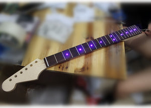 Maple Electric Guitar Neck Inlay Led Lights The Guitar Zone
